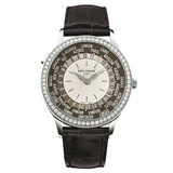 Ladies&#039; World Time Automatic White Gold &amp; Diamonds (7130G)