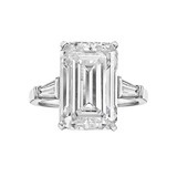 8.49 Carat Emerald-Cut Diamond Engagement Ring
