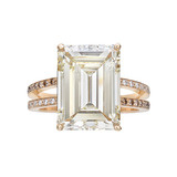 9.53 Carat Fancy Yellow Diamond Ring