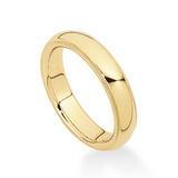 14k Gold Wedding Band with Milgrained Edge (5mm)