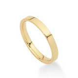 18k Gold Flat Comfort Fit Wedding Band (3mm)