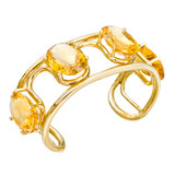 Citrine Open Wire Cuff Bracelet