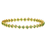 Bezel-set Peridot Bangle Bracelet