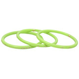 """Lilah"" Light Green Bakelite Bangles with Pink Sapphire"