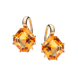 18k Gold & Citrine Frenchwire Drop Earrings