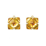 Citrine Square Earring Pendants