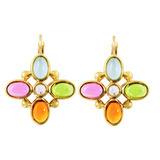 """Quadrifoglio"" Multicolored Gemstone Earrings"