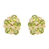 &quot;Matisse&quot; 18k Gold &amp; Peridot Earclips