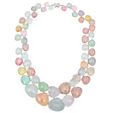 Multicolored Faceted Tourmaline &amp; Diamond Necklace
