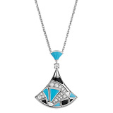 "18k White Gold & Gem-Set ""Divas' Dream"" Pendant Necklace"