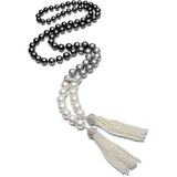 """Tahitian & South Sea Pearl """"Ombre"""" Double-Tassel Necklace"""