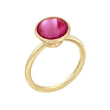 Stackable Circular-Cut Rubellite Ring