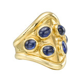 22k Gold &amp; Sapphire &quot;Cowboy&quot; Ring