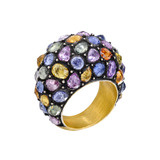 """Roxanne"" Multicolored Sapphire Ring"