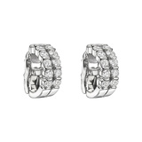 Two-Row Diamond Hoop Earrings