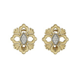 "18k Yellow Gold & Diamond ""Opera"" Button Earrings"