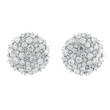 "18k White Gold & Diamond ""Confetti"" Circle Earclips"