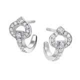 "Large 18k White Gold & Diamond ""Gallop"" Earstuds"