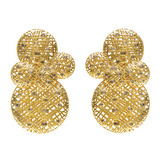 "18k Gold & Diamond ""Lace"" Earrings"