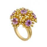 &quot;Fandango&quot; 18k Gold &amp; Amethyst Ring