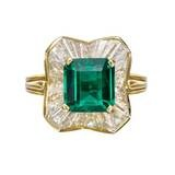 Emerald & Diamond 'Ballerina' Ring