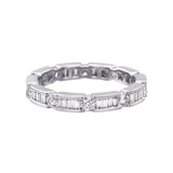Round & Baguette Diamond Eternity Band (~0.5 ct tw)