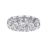Asscher-Cut Diamond Eternity Band (~12 ct tw)