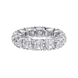 Cushion-Cut Diamond Eternity Band (~11 ct tw)