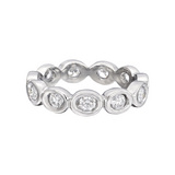 &quot;Oasis&quot; Diamond Eternity Band