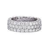3-Row Diamond Eternity Band (~4 ct tw)