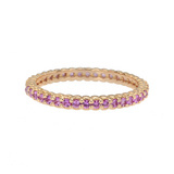 &quot;Pinpoint&quot; Pink Sapphire Eternity Band