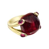 "18k Yellow Gold & Pink Tourmaline ""Candy"" Ring"