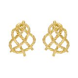 "18k Gold ""Crepe de Chine"" Knot Earrings"