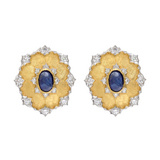 Sapphire &amp; Diamond Earclips