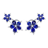"""Star Anise"" Sapphire & Diamond Earrings"