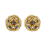 Small &quot;Fandango&quot; Sapphire &amp; Diamond Earrings