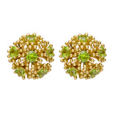 "Large ""Fandango"" Peridot Earrings"