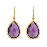 Pear-Shaped Amethyst Drop Earrings