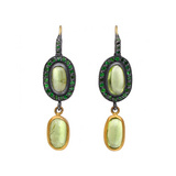 """Topkapi"" Peridot & Tsavorite Drop Earrings"