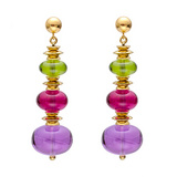 Multicolored Gemstone Bead Earrings