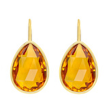 Pear-Shaped Citrine Drop Earrings