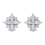 Diamond Star Cluster Earclips
