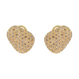 "Pavé Cognac Diamond ""Pebble"" Earrings"