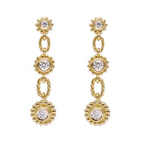 18k Yellow Gold & Diamond Drop Earrings