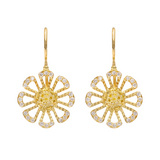 """Flower Power"" Diamond Drop Earrings"
