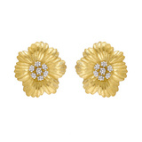"""Fleur de Fleur"" 18k Yellow & White Gold Earclips"