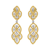 """Etoilee"" 18k Gold & Diamond Drop Earclips"