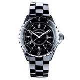 J12 Small Quartz Black Ceramic (H0682)