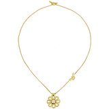 """Flower Power"" 18k Gold Pendant"