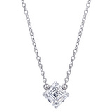 Asscher-Cut Diamond Solitaire Pendant (~0.7 ct)